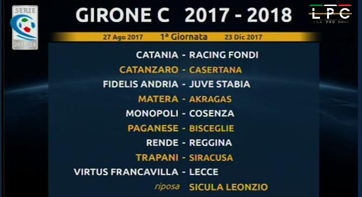 calendario Serie C