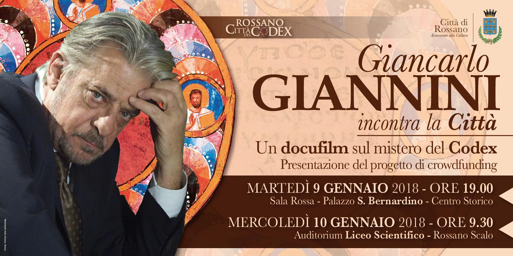 Giancarlo Giannini a Rossano, un docufilm sul mistero del Codex ...