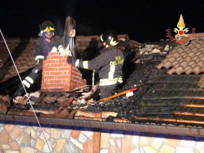 Intervento Vigili del fuoco per incendio abitazione a Cerva