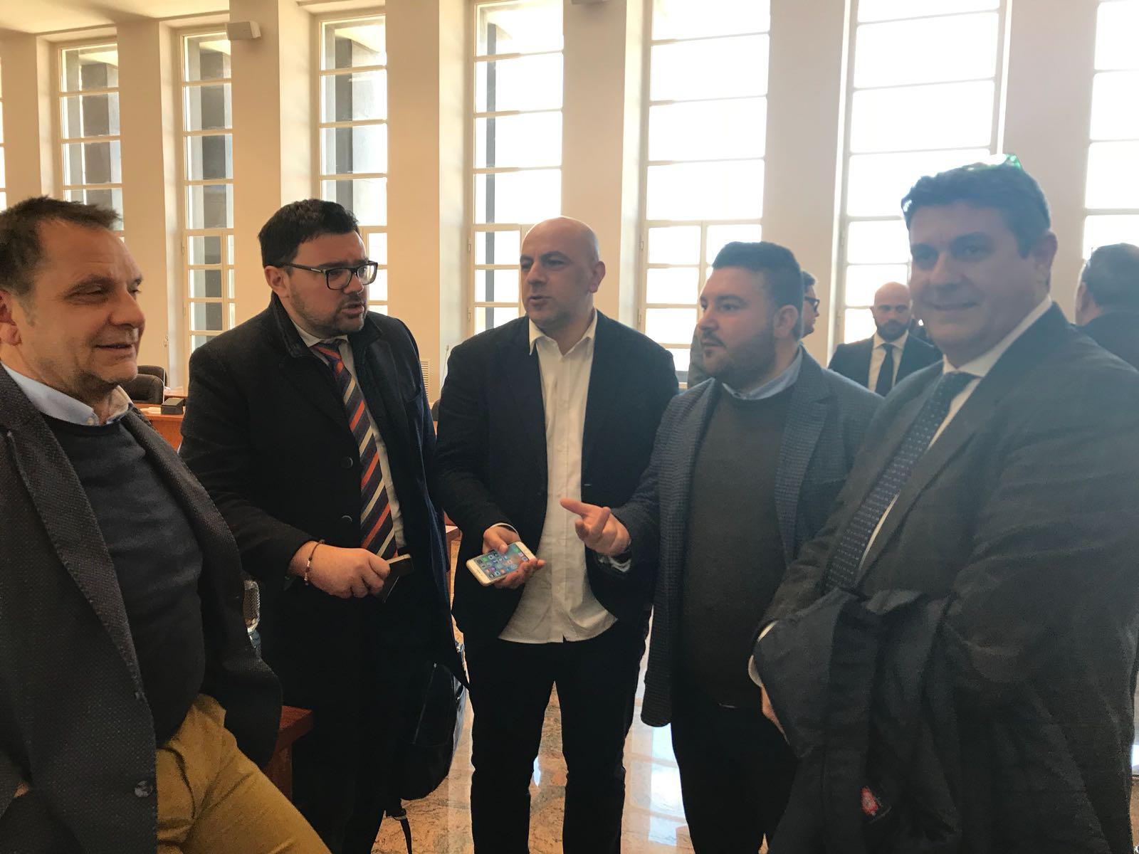 i consiglieri comunali Cito, Ambrogio, Sconosciuto e Cipparrone con l'Assessore De Cicco