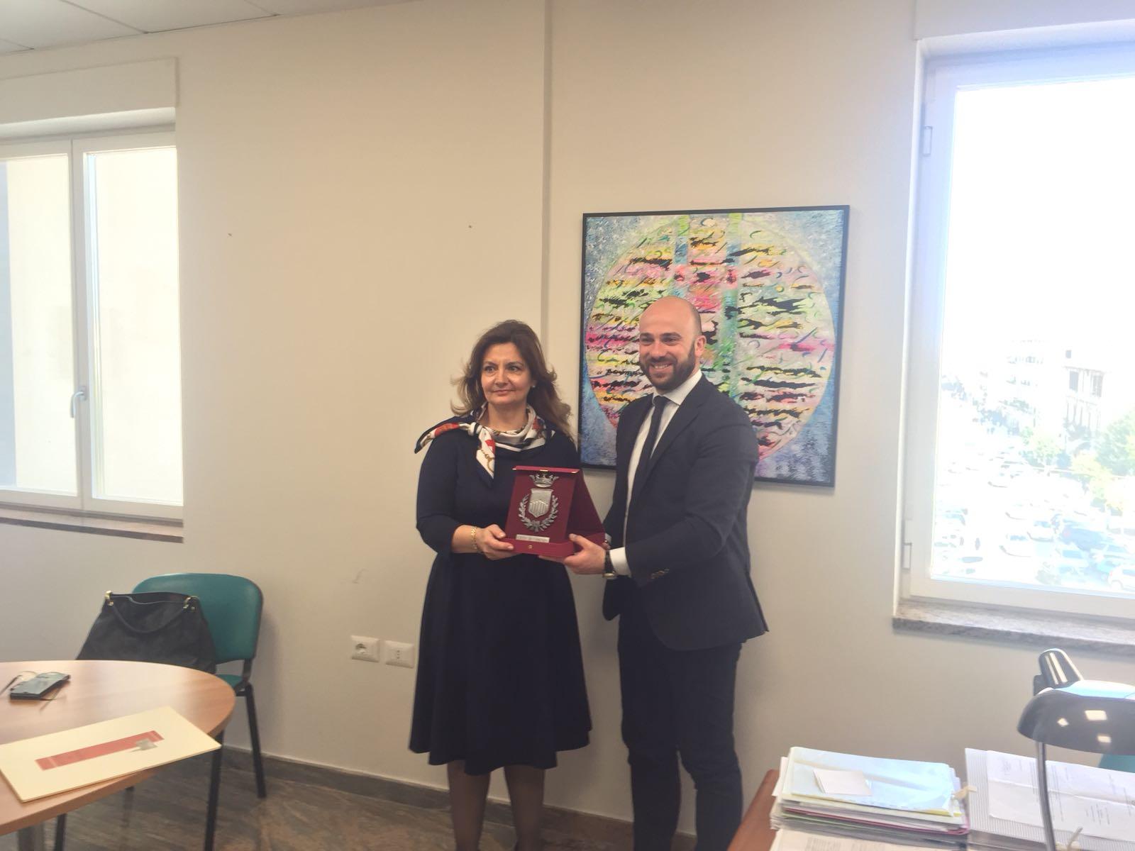 il Console Generale di Romania e il Presidente del Consiglio comunale Pierluigi Caputo