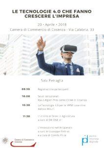 Camera di Commercio di Cosenza seminario 20 aprile 2018