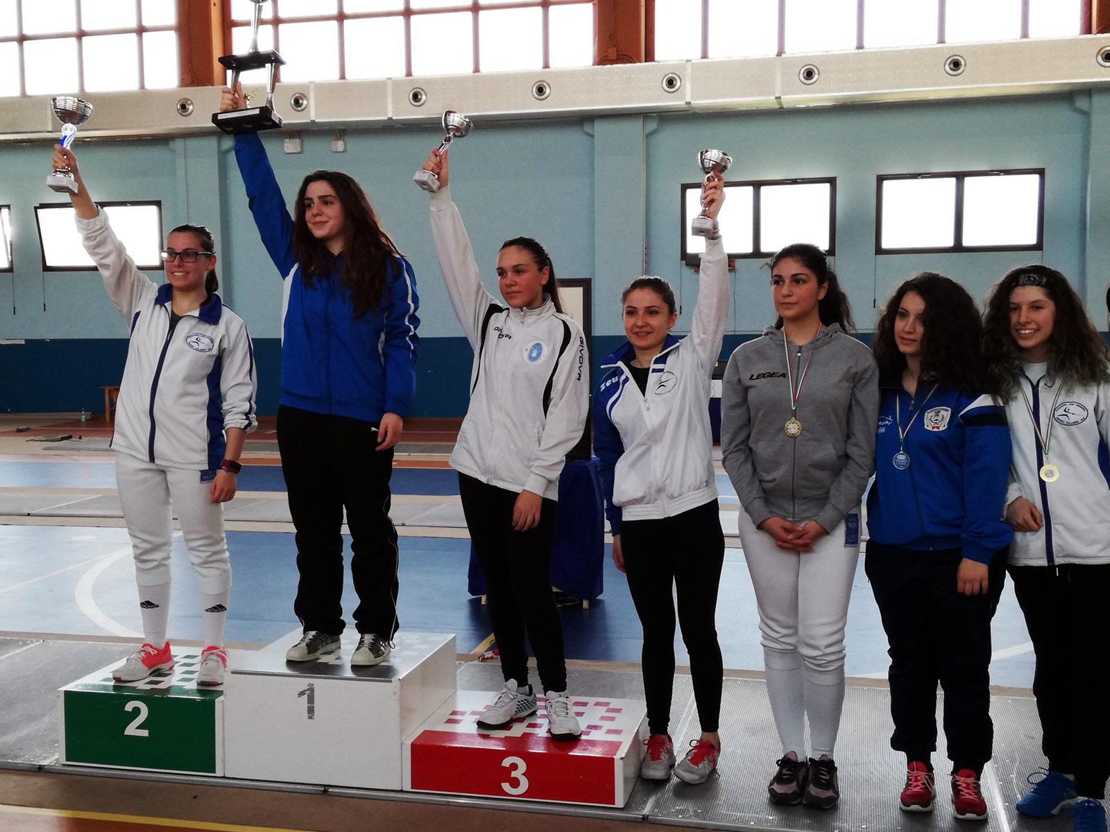 Coppa Calabria 2018 podio spada femminile
