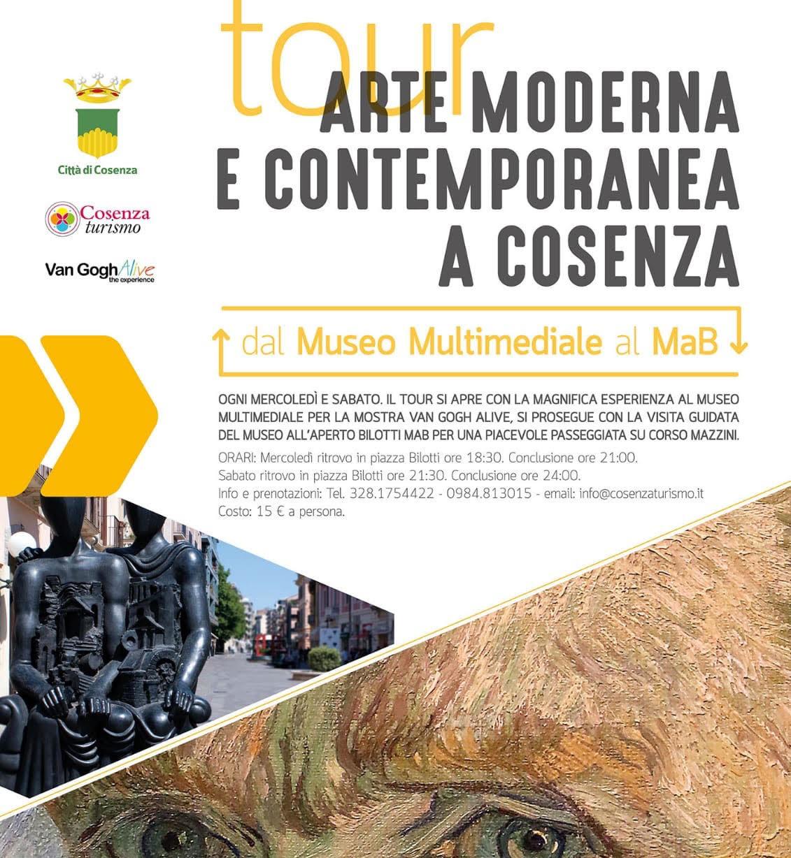 locandina tour arte moderna e contempo