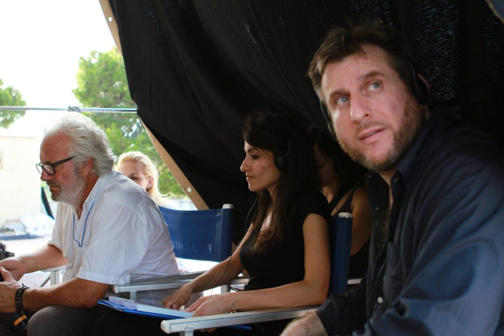 Da sx il direttore della fotografia Giovanni Mammolotti, la regista Stefania Capobianco e il regista Francesco Gagliardi