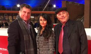 Da sx il regista e produttore Francesco Gagliardi, la regista e produttrice Stefania Capobianco, il produttore Giuseppe Picone