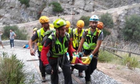 Il recupero di un escursionista (Ansa)
