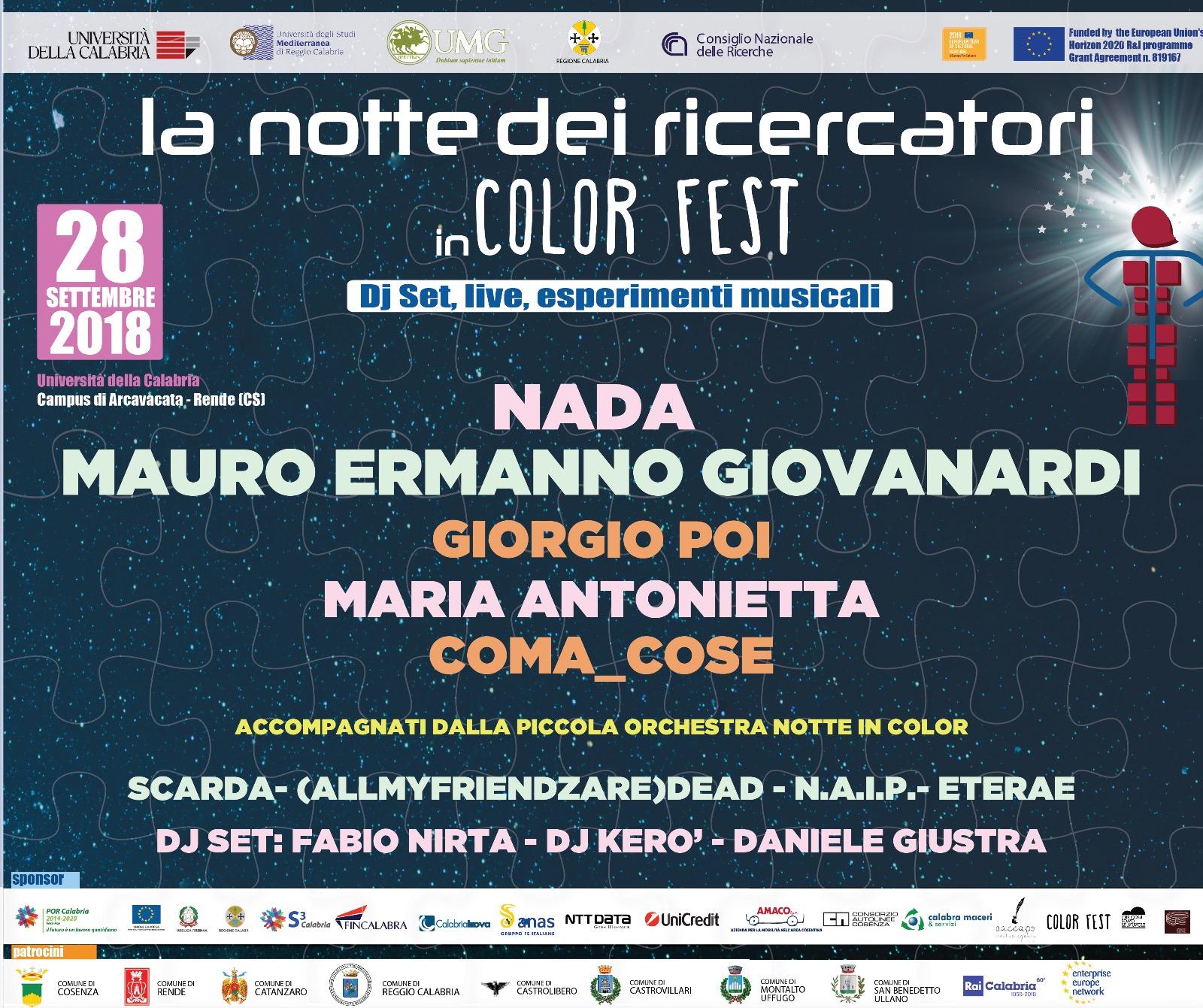 Notte dei Ricercatori in Color Fest
