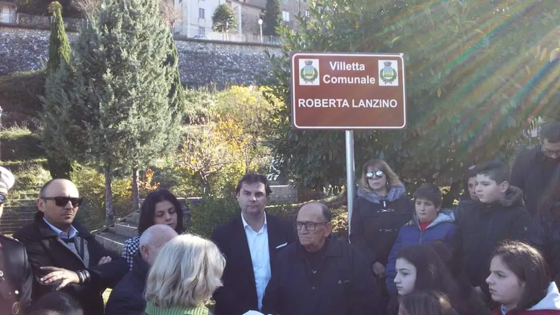 Villetta intitolata a Roberta Lanzino