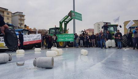 Manifestazione di protesta allevatori Calabria