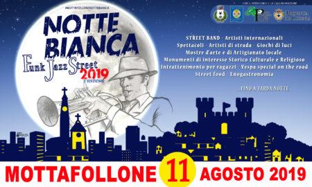 Locandina Notte Bianca Mottafollone 11 Agosto 2019