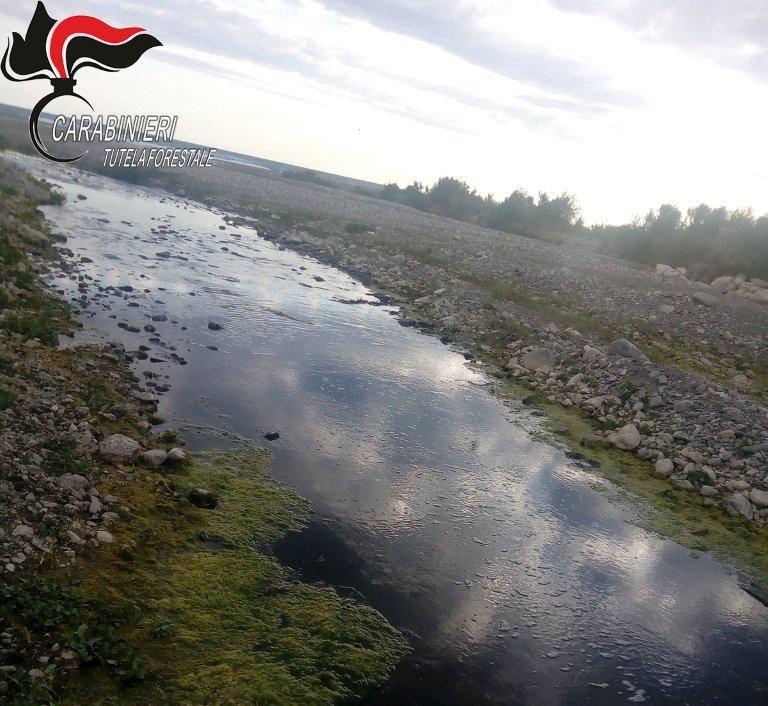 trionto letto fiume