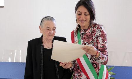 L'Assessore Succurro con la signora Ottolenghi - 2