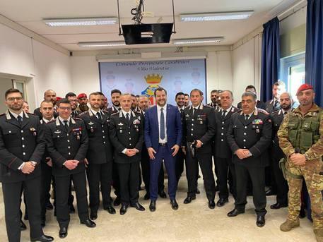 Matteo Salvini incontra i carabinieri del Comando provinciale di Vibo Valentia