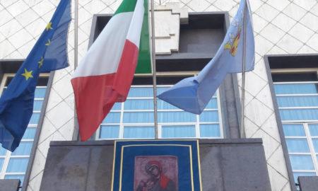 rappo Madonna del Pilerio esposto a Palazzo dei Bruzi
