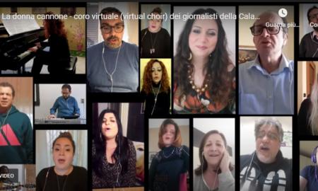 giornalisti uniti nel canto