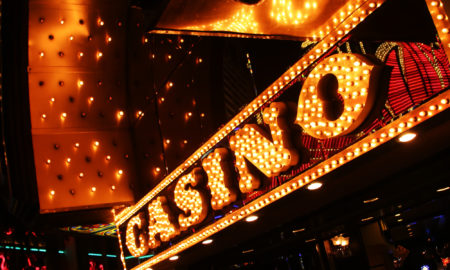 Neon casino sign. Las Vegas, Nevada, USA.