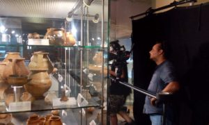 la troupe al lavoro al Museo dei Brettii