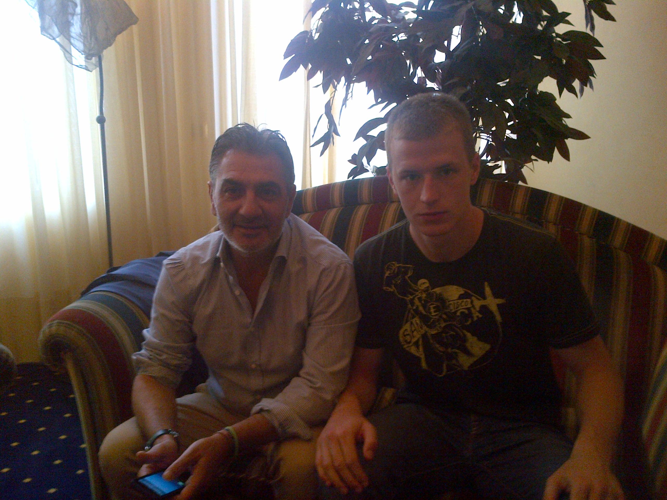 L'ad Gianni Vrenna con Tomislav Saric