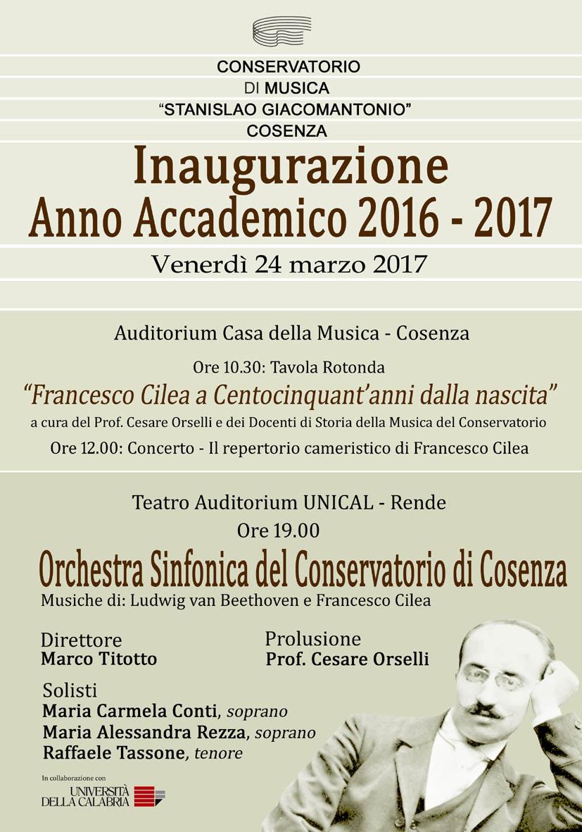Inaugurazione dell'anno accademico del Conservatorio ...