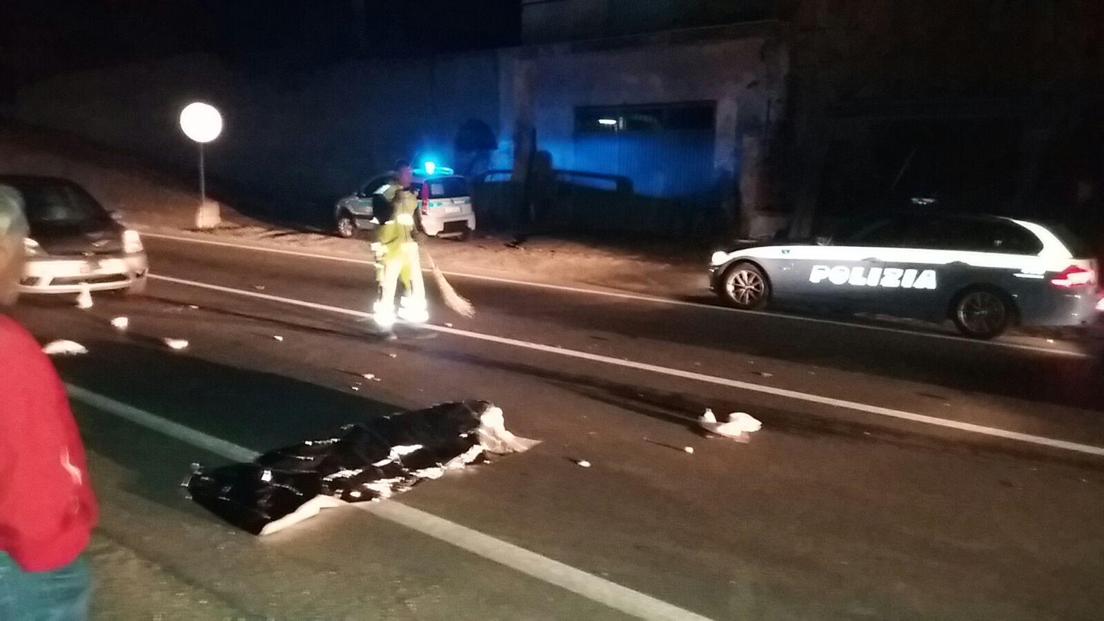 incidente a fuscaldo, incidente stradale