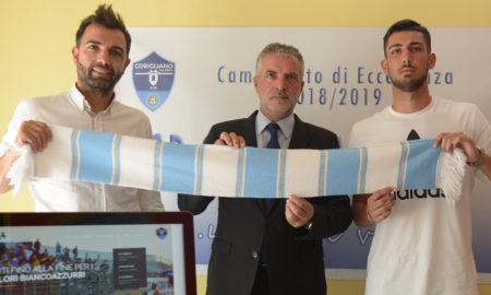 Da sx Ds S. Calaminici, Presidente M. Nucaro e il Portiere Under Andrea Lizzano