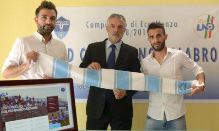 Ds Salvatore Calaminici, Presidente Mauro Nucaro e Centrocampista Giovanni Biondo
