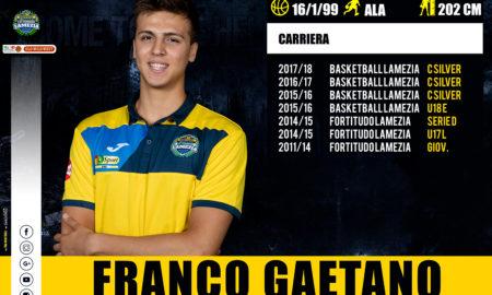 annuncio GAETANO LEGA basket