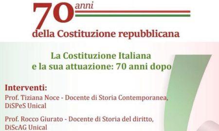 70 anni della Costituzione