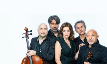 Claudia-Gerini-e-Soli-String-Quartet.-Foto-da-Ufficio-Stampa