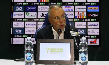 Piero Braglia dopo Pisa-Cosenza