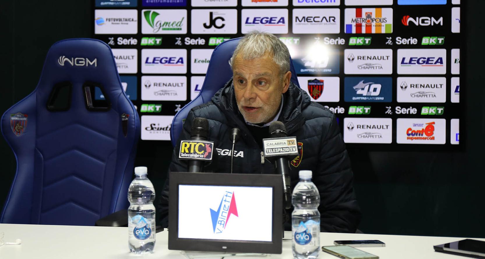 Piero Braglia dopo Pescara - Cosenza