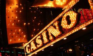Neon casino sign. Las Vegas, Nevada, USA.