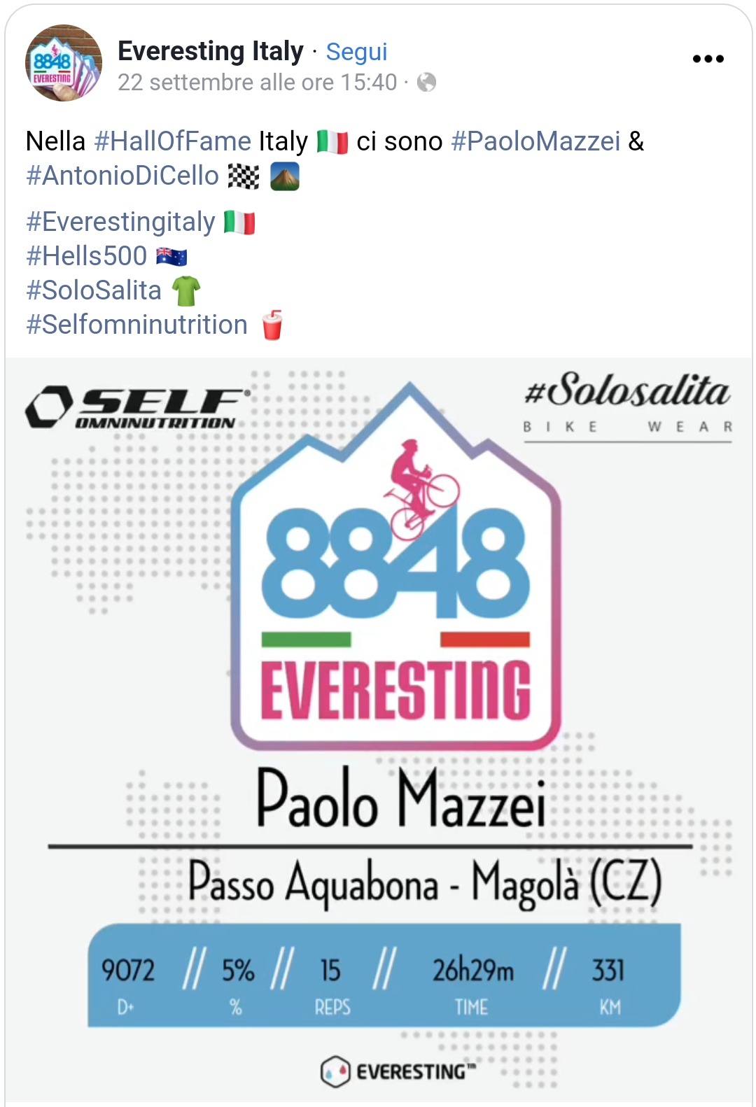 Everesting Italia