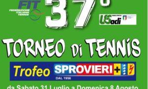 Locandina 37° Torneo Tennis Sprovieri