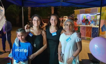 Volontarie e presidente Unicef Cs a Belvedere