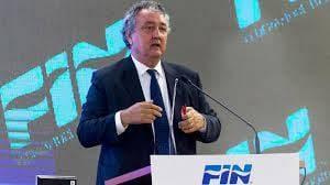 in Calabria il presidente della Federazione Italiana Nuoto, Paolo Barelli.
