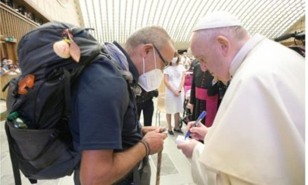 Don Santino Borrelli e Papa Francesco 01 09 21