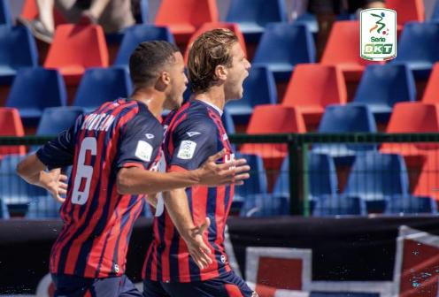 Gori in gol durante Cosenza-Vicenza